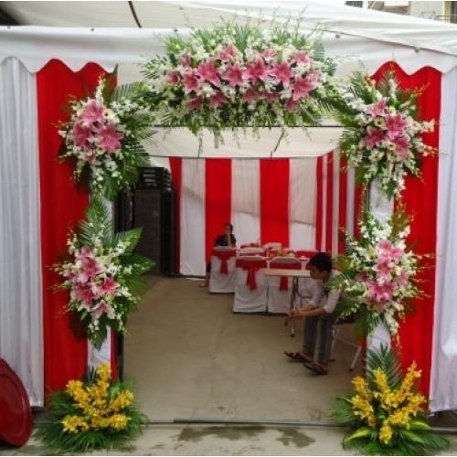 Cổng hoa Ly hồng
